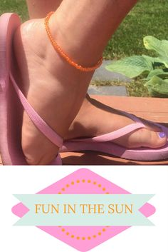 Fun in the sun summer accessories! #anklet #summer #fun #style #fashion