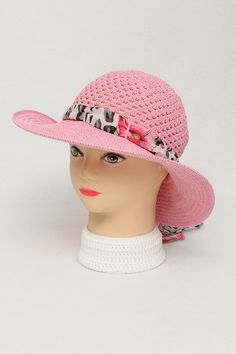 Woman summer hat - Classic woman hat - Woman hat with ribbon - Woman sun hat - Crochet woman hat - Crochet summer hat  Listing Stats