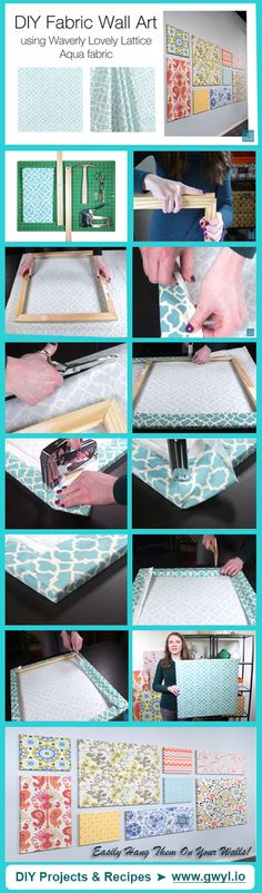 Chic and super easy DIY Wall Art! | This Fabric Wall Art Is So Easy To Make You Won't Believe It! |Full Instructions here-->  http://gwyl.io/fabric-wall-art-easy-make-wont-believe/