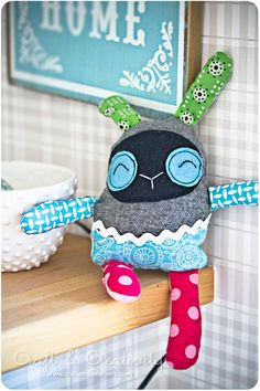I love plushies that look they're made with random left over fabrics!