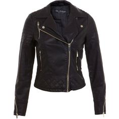Miss Selfridge Black Molly Faux Leather Biker ($85) ❤ liked on Polyvore featuring outerwear, jackets, black, coats, miss selfridge, vegan leather jacket, motorcycle jacket, moto biker jacket, vegan motorcycle jacket and vegan jackets