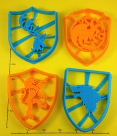 """""""Game of Thrones"""" Sigil Cookie Cutter Set of 4"""