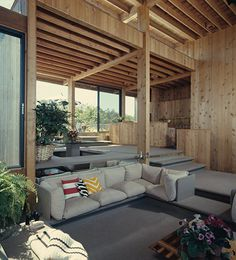 Travis-Wall House, Fire Island Pines, NY, 1972-75.  Architect Horace Gifford.