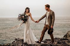 """1,544 Likes, 16 Comments - Wedding Dresses (@weddingdressesofficial) on Instagram: """"Come away with me ✨ In love with this lace gown and flower crown! This beautiful photo taken by the…"""""""