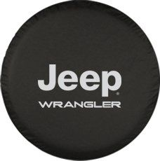 """30"""" Jeep Wrangler Tire Cover - (Black Denim Vinyl) - Silver Print - Made In The Usa, 2015 Amazon Top Rated Tire Accessories & Parts #AutomotivePartsandAccessories"""
