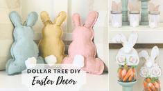 Dollar Tree Valentine's Day Crafts: Dollar Tree Twine Heart Decor Dollar Tree Decor, Dollar Tree Crafts, Diy Crafts How To Make, Easy Diy Crafts, Diy Ostern, Diy Holz, Diy Easter Decorations, Easter Crafts, Bunny Crafts