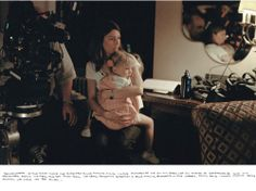 Sofia Coppola and her daughter, Romy, on the set of Somewhere.