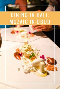 Dining in a tropical garden in Ubud - our unforgettable romantic dinner at Mozaic.  | www.travelwithnanob.com | #Ubud #Bali #Indonesia #Travel #Food #LuxuryTravel #Photography