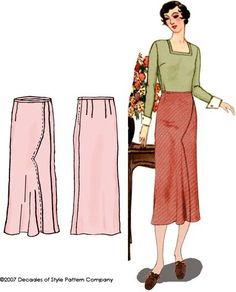 Britex Fabrics -  1930s Shaped Seam Skirt by Decades of Style - Sewing Patterns - Notions