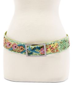 This Green & Yellow Paisley Belt by Art Studio Company is perfect! #zulilyfinds