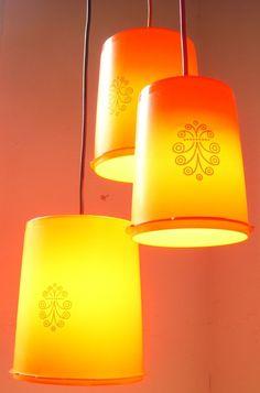 Vintage Tupperware Lamps
