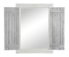 Espejo ventana en madera, blanco - 60,5x80,5 cm
