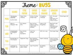 Tons of fun and creative ideas for a Bug/Insect Theme Ideas for tot school, preschool or kindergarten.