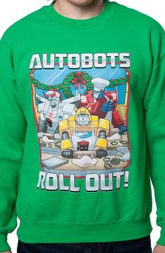 Autobots Roll Out Faux Ugly Christmas Sweater