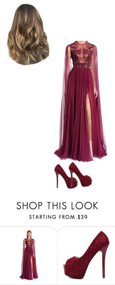 """""""-Untitled 66"""" by queeningg ❤ liked on Polyvore featuring Zuhair Murad and WithChic"""