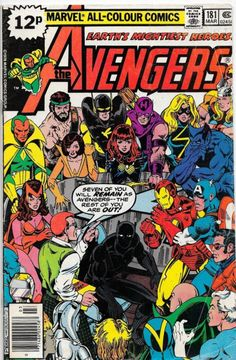 Avengers by George Perez. This was my first Avengers comic, and I've been hooked since. Marvel Dc Comics, Marvel Avengers, Bd Comics, Marvel Comic Books, Marvel Heroes, Comic Books Art, Vision Avengers, Comic Superman, Comics Vintage