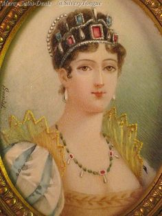 Miniature portrait of empress Josephine.