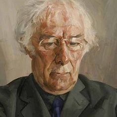 "lepuslunar: "" Portrait of Seamus Heaney 13 April 1939 – 30 August 2013 by Tai-Shan Schierenberg ""It is always better to avenge dear ones than to indulge in mourning. For every one of us, living in. Painting People, Figure Painting, Tai Shan Schierenberg, Seamus Heaney, A Level Art, National Portrait Gallery, Art Academy, Art Uk, Portrait Art"
