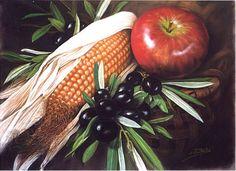 "Olivas y maiz "" PASTEL "" Food Artists, Pastel, Apple, Fruit, Searching, Apple Fruit, Cake, Crayon Art, Apples"