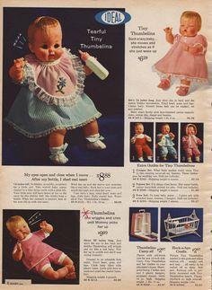 Thumbelina Doll 1964   Tiny Thumbelina Dolls (1964)