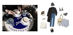 """""""Coffe table"""" by beanh ❤ liked on Polyvore featuring Wilfred Free, A.P.C., Alexander Wang, Chanel, La Perla, Madewell, Coal, Petit Bateau, Toast and Winter"""