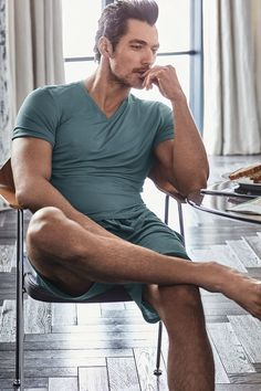 David Gandy shows off his abs in his latest loungewear collection for Marks & Spencer - Mirror Online