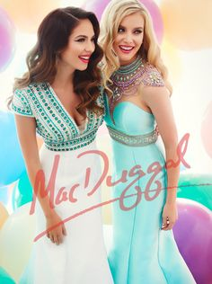 Prom is your chance to stand out and own the night. Do this with confidence, a bright smile and a stunning Mac Duggal gown.    Which show-stopping dress will you arrive in?     Left 48394M Right 62341M