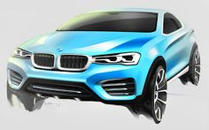 Sketch design new BMW X4