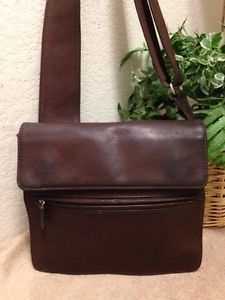 447f78db105d Fossil Brown Pebble Leather Nylon Messenger Crossbody Sling Bag Handbag  Shoulder | eBay