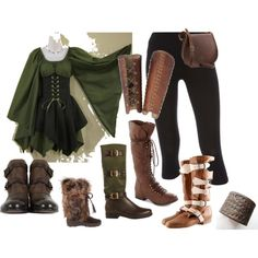 My elf character idea set, created by kristen-blake on Polyvore