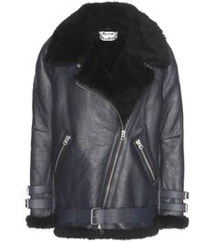 Acne Studios - Velocite shearling-lined leather jacket - Acne Studios   oversized shearling- d989214c9a7