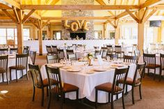 """{  CRAIGLEITH SKI CLUB WEDDING  } From the bride, Shannae: """"We decided to get married in Blue Mountain, Ontario at a Ski Club where my husband Sean grew up skiing with his family and the venue (Craigleith Ski Club) had a rustic cabin feel to it so I wanted to replicate that in the look and feel of the wedding. We would describe the vision as rustic, mountains, glam, plum, gold."""""""