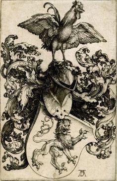 """Coat of Arms"" (1503), engraving - Albrecht Dürer (1471-1528)"