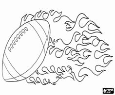 Ball of American football coloring page - Daily Sports News & Live Stream Fotball Channel Football Locker Signs, Football Locker Decorations, Football Banner, Football Players, Football Cheerleading, Football Moms, Football Crafts, Football Program, Free Coloring