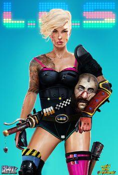 Lms comic con poster - Digital Art by Dan LuVisi Cyberpunk 2020, Cyberpunk Art, Last Man Standing, Game Character Design, Character Art, Character Concept, Deviantart, Art Of Dan, Pin Up