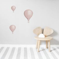Pink Balloon Wall Stickers are perfect for any kids bedroom, playroom or nursery. Nordic style stickers are subtle but exclusive, top quality and durable.