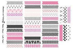 Washi Stickers - Cafe Paris - Planner Sticker Set