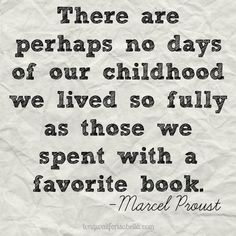 Reading was one of my favorite childhood pastimes.