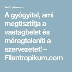A gyógyital, ami megtisztítja a vastagbelet és méregteleníti a szervezetet! – Filantropikum.com