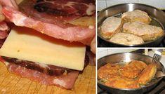 Určitě všichni znáte klasický cordon bleu - kuřecí prsa, šunka, sýr, obalené v trojobalu a vysmažené na oleji. Připravte si toto chutné jídlo trochu jinak. Hungarian Recipes, Coron, Sausage, Beef, Cooking, Breakfast, Steaks, Food Items, Food Food