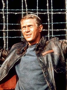 Steve McQueen in The Great Escape 1963 - chamomile tea, hot soup and The Great Escape...24 hour bug strikes quick and hard, but these make for a comfortable convalescence. : )