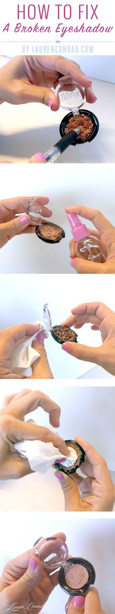 How to Fix a Smashed Eyeshadow {so helpful}