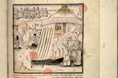 Third quarter of 15th century, Judith and Holofernes. Paris, Bibl.  Mazarine, ms.  1559, f.  087