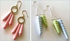 Lane Tanner Designs' bone-inspired paper earrings - Lei Chic ...