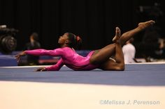Simone Biles is amazingly powerful in both her tumbling and her dance!