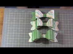 ▶ Gift Bow using Stampin' Up! Bigz L Die - YouTube