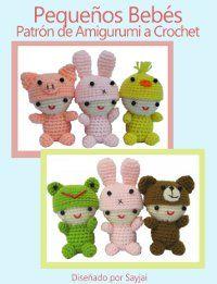 Pequeños bebés con bonitas gorras de animales Patrón de Amigurumi a Crochet