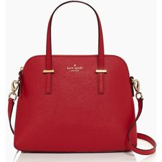 Kate Spade Cedar Street Maise (3 865 UAH) ❤ liked on Polyvore featuring bags, handbags, shoulder bags, purses, accessories, sacs, leather crossbody purse, red shoulder bag, leather shoulder bag and leather crossbody handbags