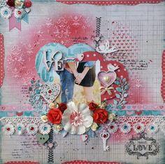 Blog dedicado al scrapbooking, en el que podrás encontrar tutoriales y aprender diferentes técnicas, así como proyectos para inspirarte. Page Layout, Layouts, Scrapbook Pages, Scrapbooking, Mixed Media, Blog, Paper, Pink, Painting