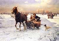 Alfred von Wierusz Kowalski Lovers in a sleigh print for sale. Shop for Alfred von Wierusz Kowalski Lovers in a sleigh painting and frame at discount price, ships in 24 hours. Framed Art Prints, Painting Prints, Fine Art Prints, Oil Painting Pictures, Pictures To Paint, Fine Art Amerika, Dashing Through The Snow, Canvas Art, Canvas Prints